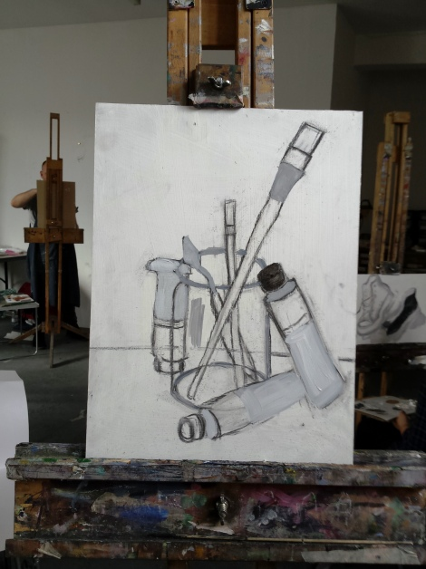 still life with brushes I