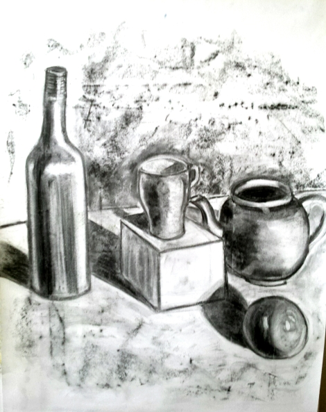 Charcoal on paper, 60 x 80 cm