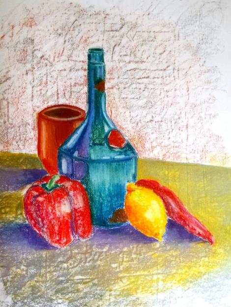 Pastel on paper, 60 x 80 cm