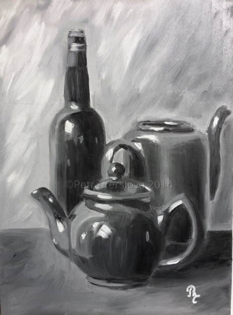 KETTLES Oil on board 40 cm x 30 cm, © 2014 Petra Terslova