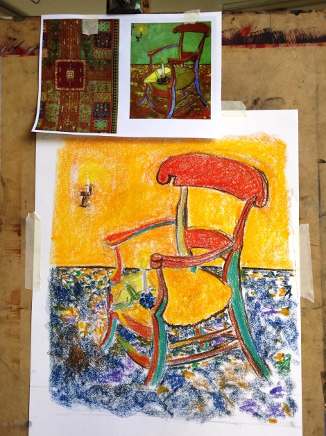 Pastel on paper, 60 x 40 cm