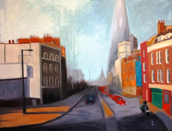 Borough High Street, 90 x 70 cm, oil on canvas, © 2015 Petra Terslova